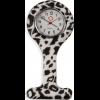 "Schwesternuhr, Silikon, ""White Leopard"" ø 4 cm, 8 cm lang"