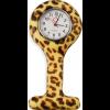 """Schwesternuhr, Silikon, """"Brown Leopard"""" ø 4 cm, 8 cm lang"""