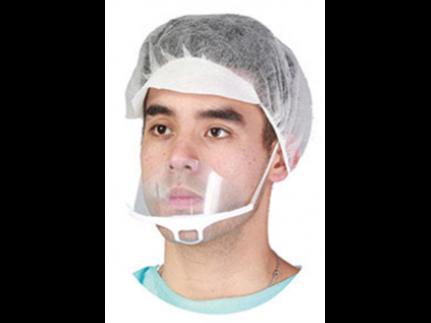 Spuckmaske aus Kunststoff transparent Anti-Beschlag, 13.6 x 6.5 cm